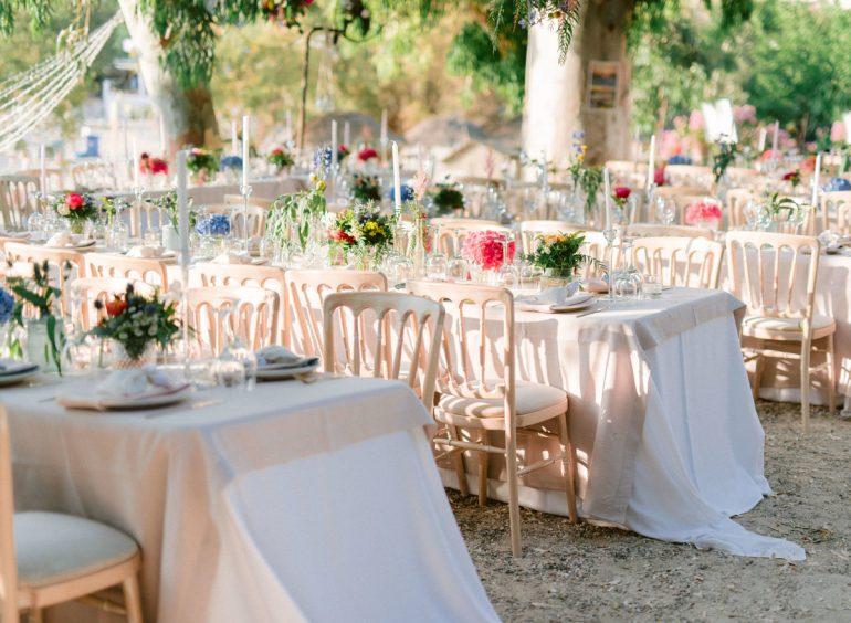 Seating reception setup by wedding coordinato