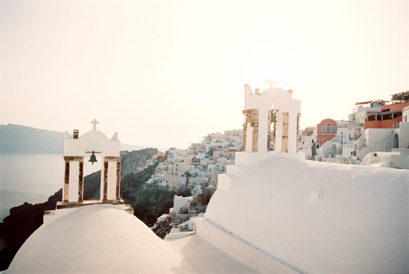 Beautiful churches at Santorini for Santorini Weddings
