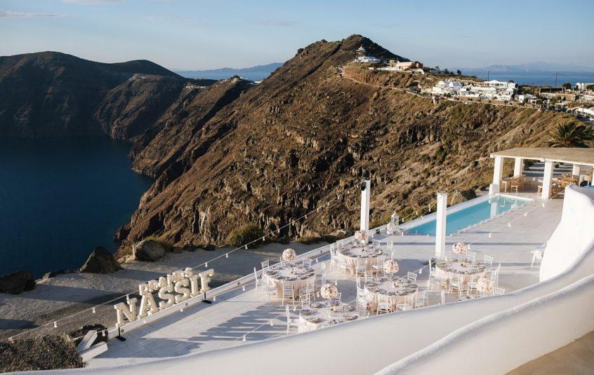 Rocabella Hotel Santorini wedding in Greece venue