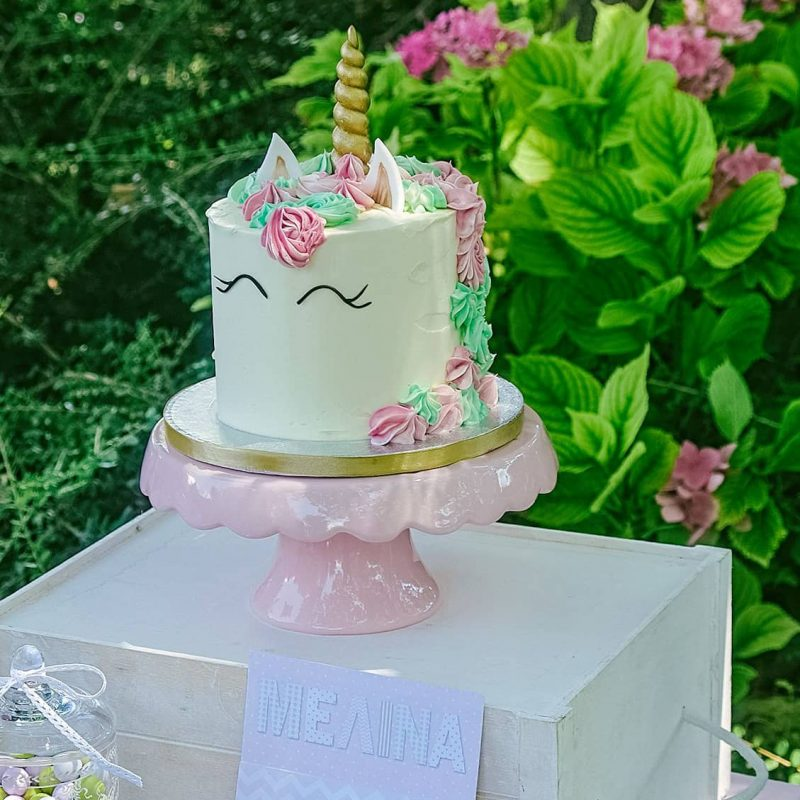 Unicorn birthday cake for a little girl;s christening, The baptism of my dreams came true