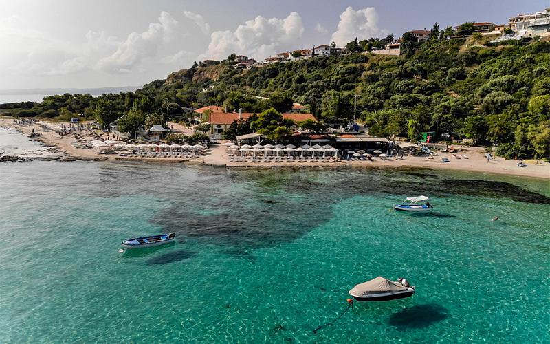 View of Halkidiki beach