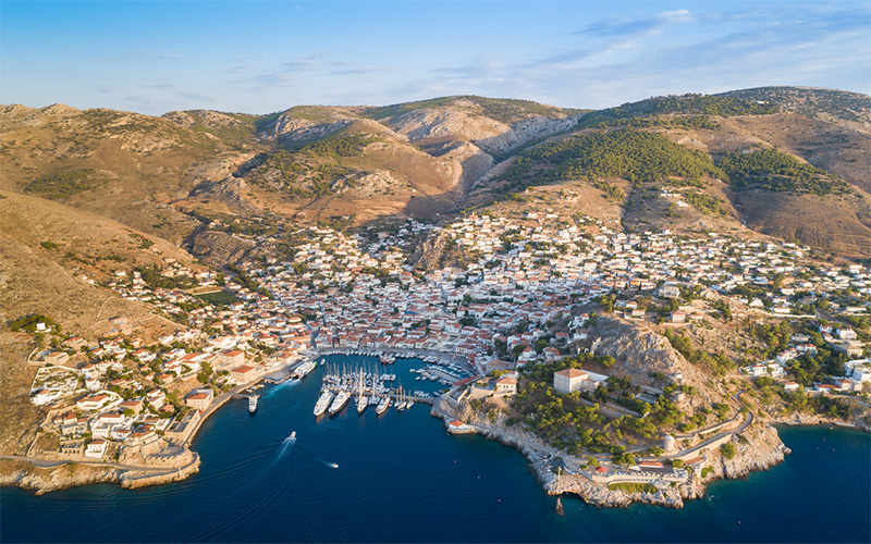 View of Hydra port
