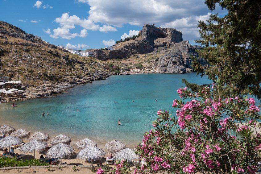 st paul`s bay Lindos Greece