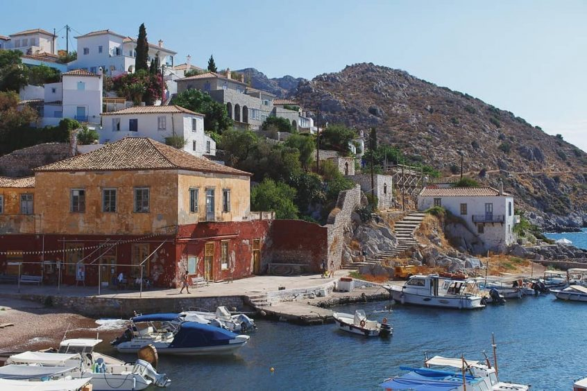 hydra island building view at day
